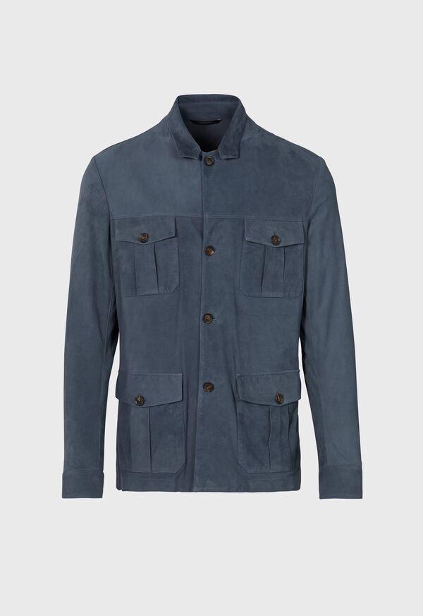 Safari Style Suede Jacket, image 1