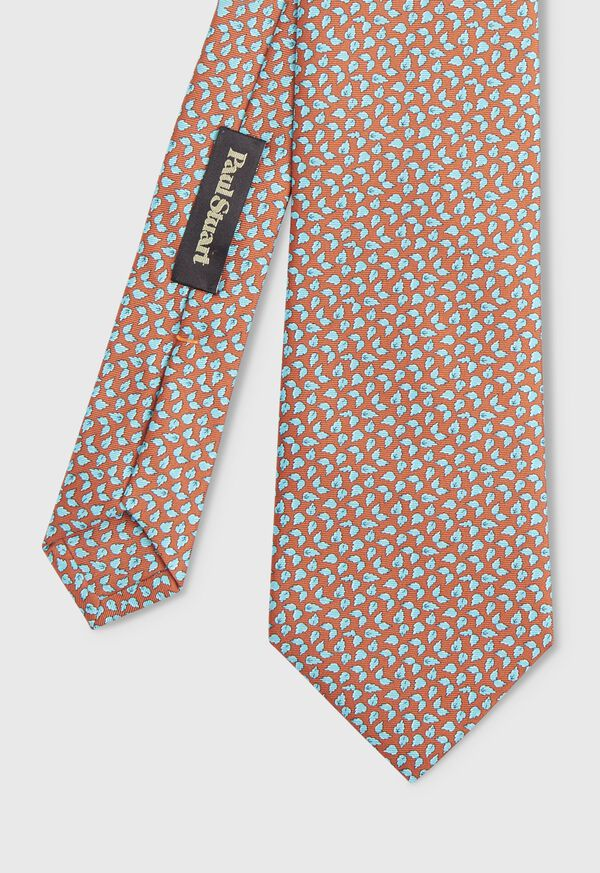 Mini Leaves Silk Tie, image 1