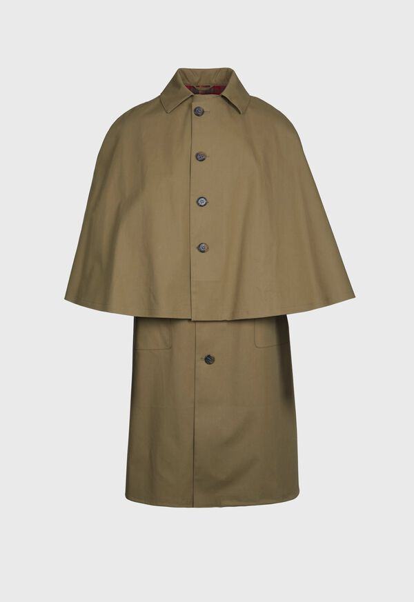 Olive Solid Water Proof Cape Coat