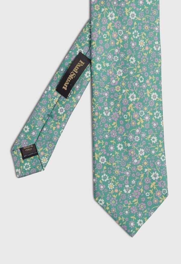 Silk Summer Floral Tie, image 1