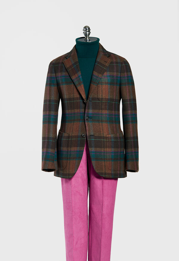 Horseblanket Brown Plaid Sport Coat, image 1