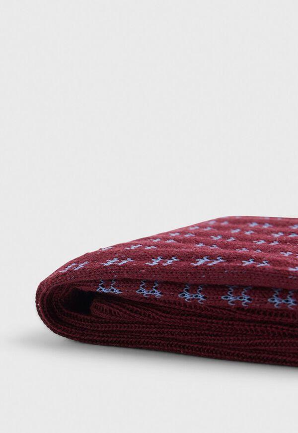 Cotton Blend Box Motif Sock, image 2