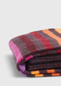 Wool Blend Multicolor Stripe Sock, thumbnail 2