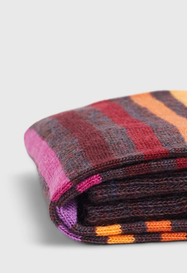Wool Blend Multicolor Stripe Sock, image 2