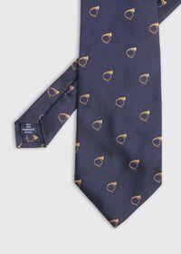 Bugle Motif Stripe Silk Tie, thumbnail 2