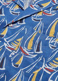 Linen Boat Print Shirt, thumbnail 3
