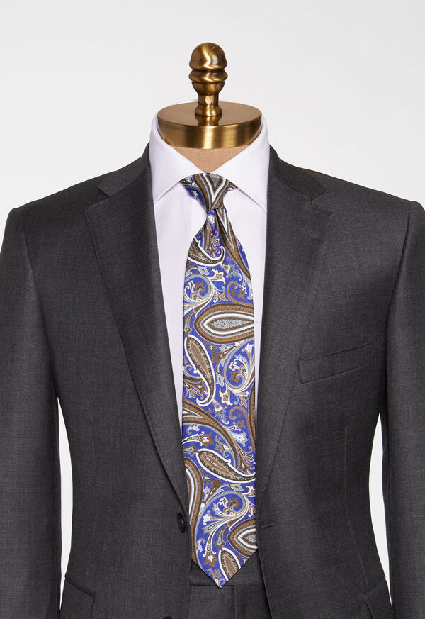 Paisley Silk and Linen Tie, image 2