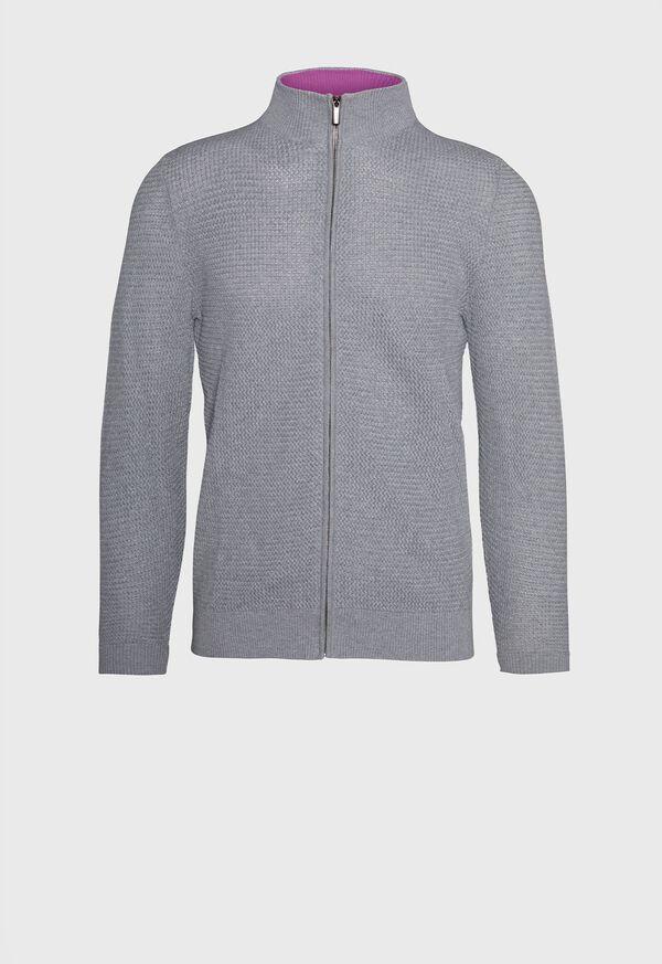 Pique Full Zip Sweater, image 1