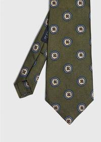Button Silk Tie, thumbnail 1