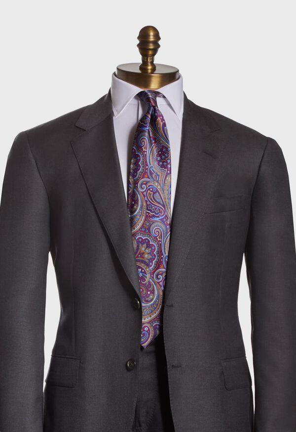 Paisley Print Satin Tie, image 2