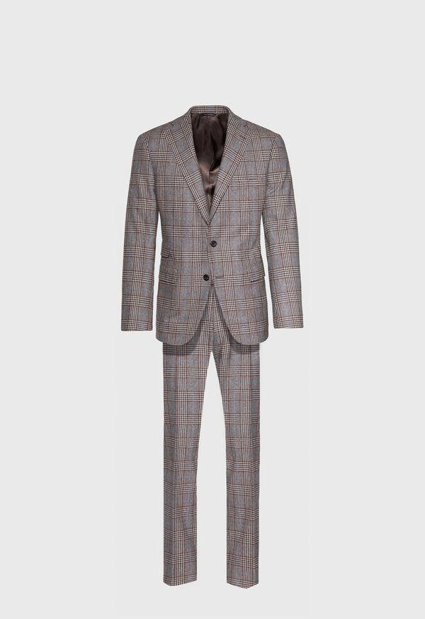 Phillip Fit Mink Plaid Wool Suit, image 1