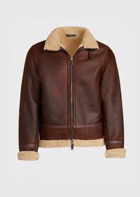 Shearling Aviator Jacket, thumbnail 1