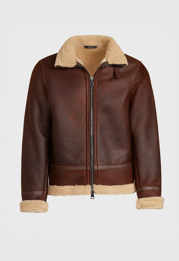 Shearling Aviator Jacket, image 1