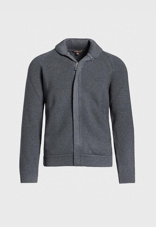 Merino Wool Shawl Collar Cardigan, image 1