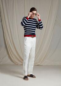 White Linen Blend Trouser, thumbnail 4
