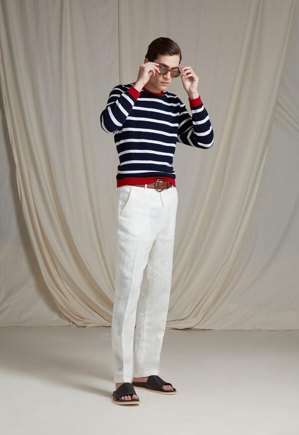 White Linen Blend Trouser, image 4