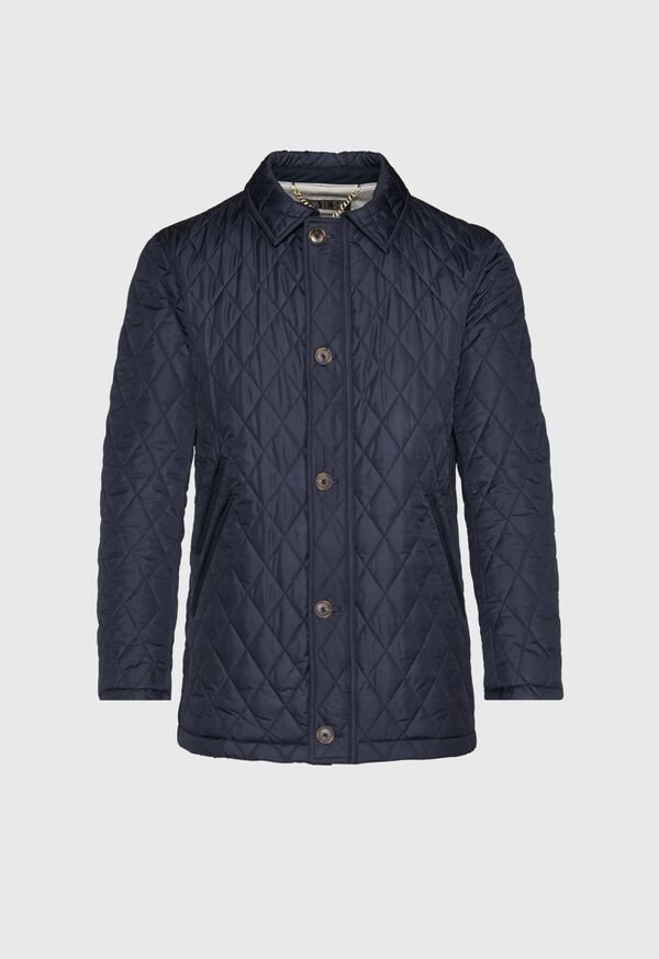 Diamond Quilted Barn Coat, image 1