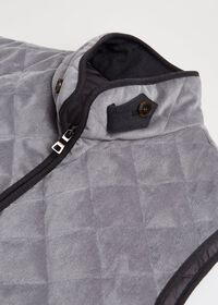 Water Repellent Corduroy Quilted Vest, thumbnail 2