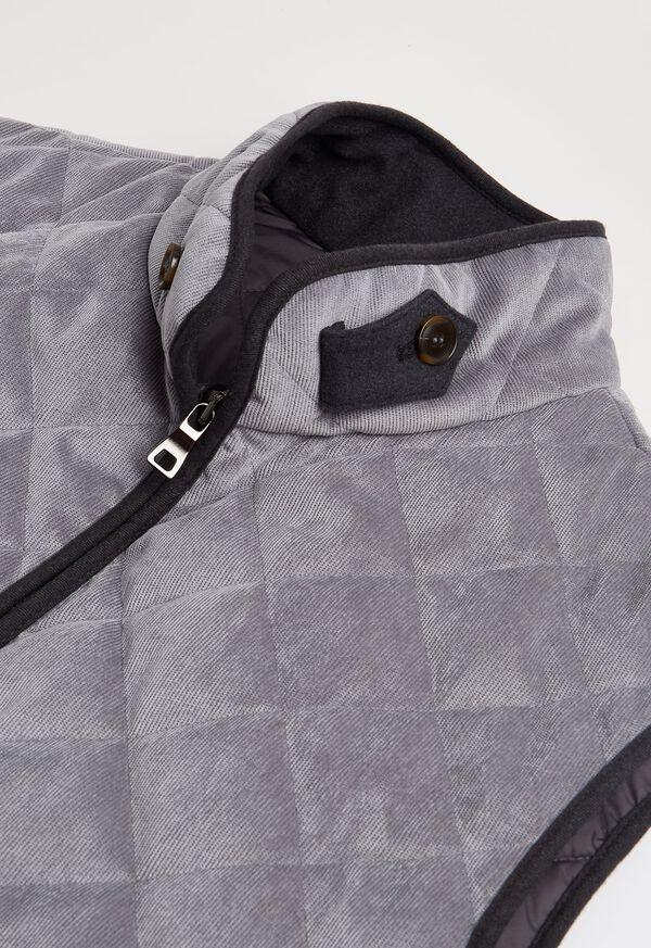 Water Repellent Corduroy Quilted Vest, image 2