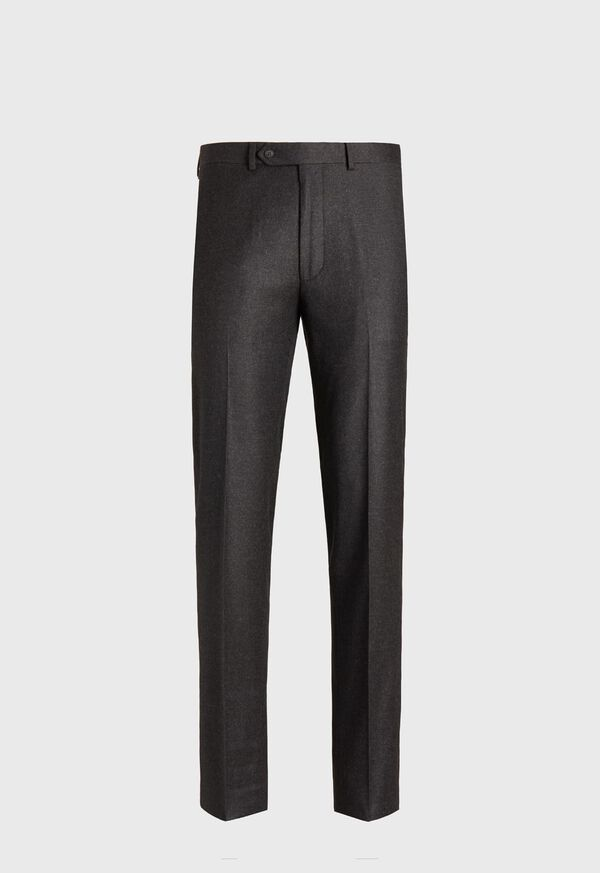 Flannel Wool Blend Charcoal Trouser, image 1