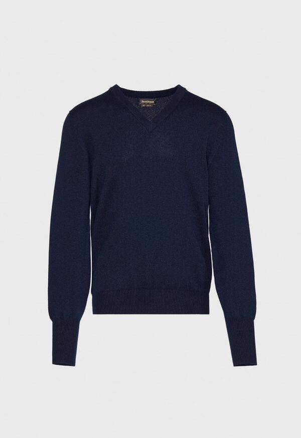 Scottish Cashmere V-Neck Sweater, image 16