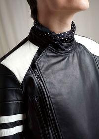 Black Leather Motorcycle Jacket, thumbnail 5