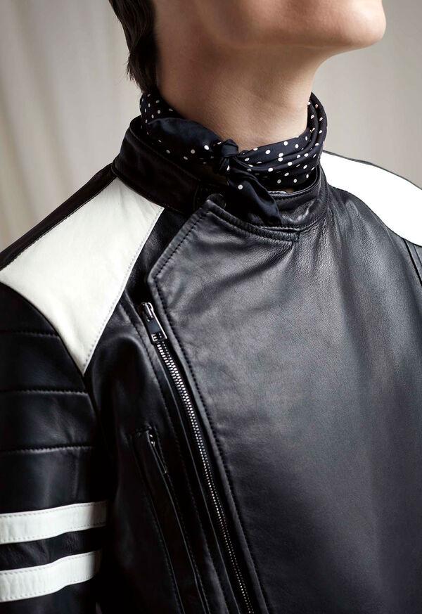 Black Leather Motorcycle Jacket, image 5