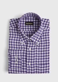 Linen Oxford Gingham Sport Shirt, thumbnail 1