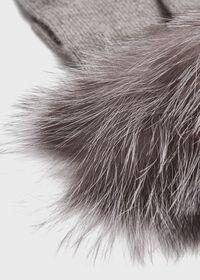 Touchscreen Fox Fur Trim Glove, thumbnail 2