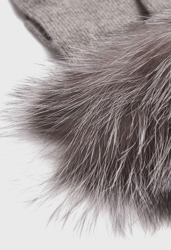 Touchscreen Fox Fur Trim Glove, image 2