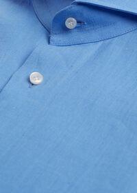 Light Blue Washed Linen Sport Shirt, thumbnail 2