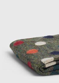 Wool Blend Multi Color Dot Sock, thumbnail 2