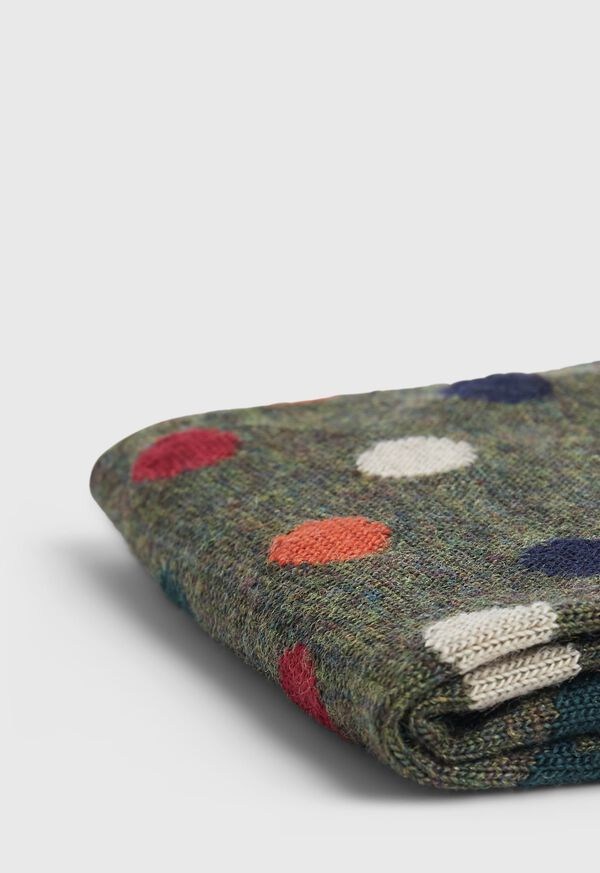 Wool Blend Multi Color Dot Sock, image 2