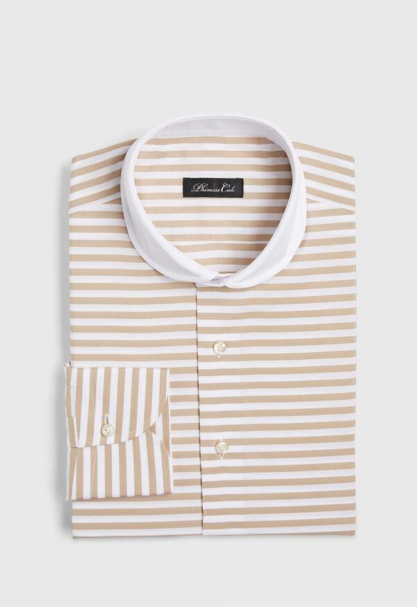 Horizontal Stripe Dress Shirt
