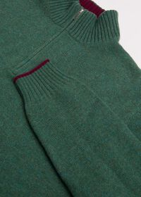 Cashmere Quarter Zip Mock Neck Sweater, thumbnail 2