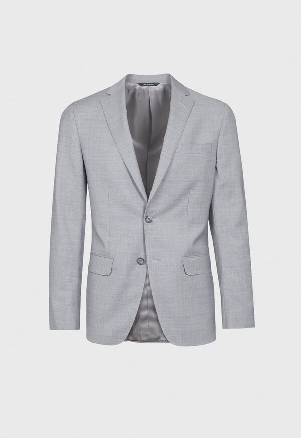 Light Grey Mini Houndstooth Wool Blend suit, image 3