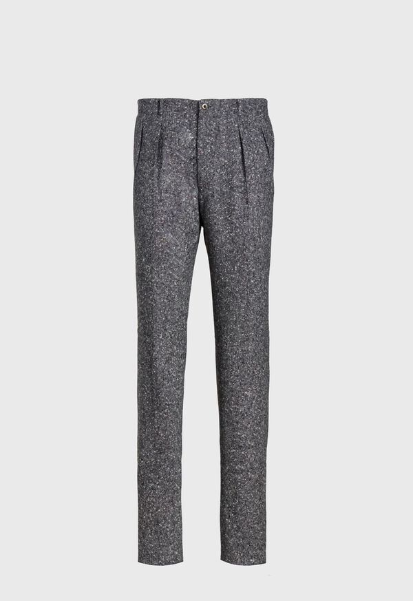 Wide Leg Pleated Wool Blend Pant, image 1