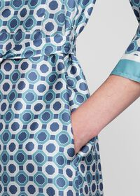 Geometric Print Silk Shirt Dress, thumbnail 3