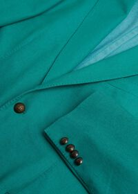 Green Cotton Blend Denim Jacket, thumbnail 5