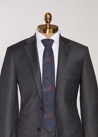 Wool Printed Paisley Tie, thumbnail 2