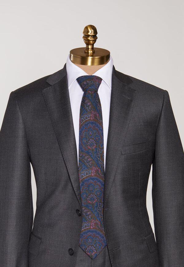 Wool Printed Paisley Tie, image 2