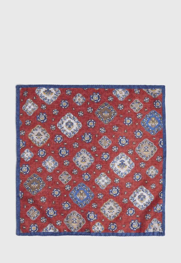 Double Printed Medallion Pocket Square, image 2