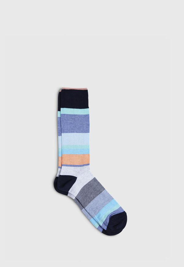 Melange Color Block Crew Sock, image 1