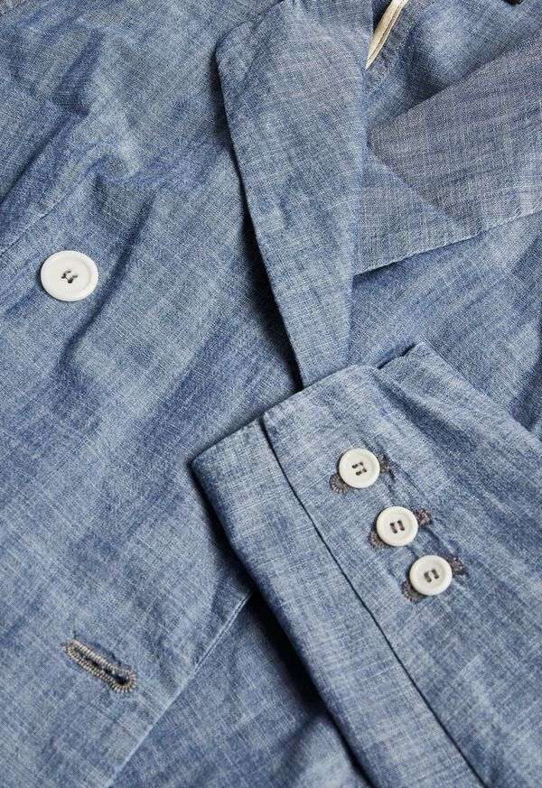Chambray Double Breasted Blazer, image 2