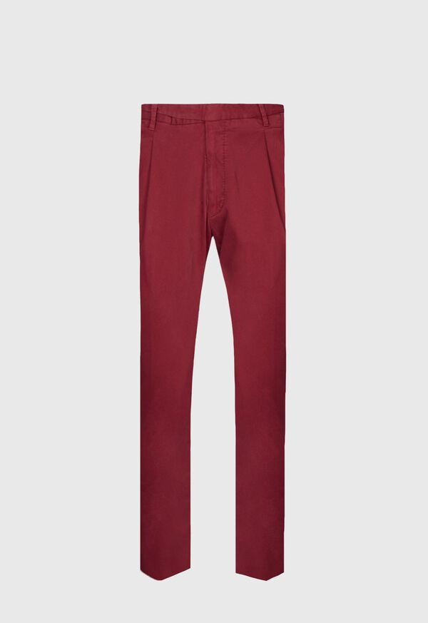 Solid Cotton Stretch Garment Dyed Gurkha Pant, image 1