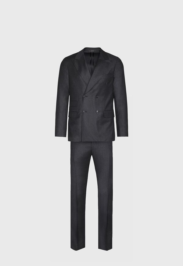 Super 150s Charcoal Double Breasted Suit, image 1