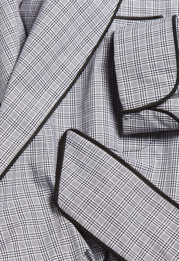 Plaid Cotton Robe, image 2