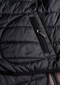 Nylon Button Front Quilted Vest, thumbnail 3