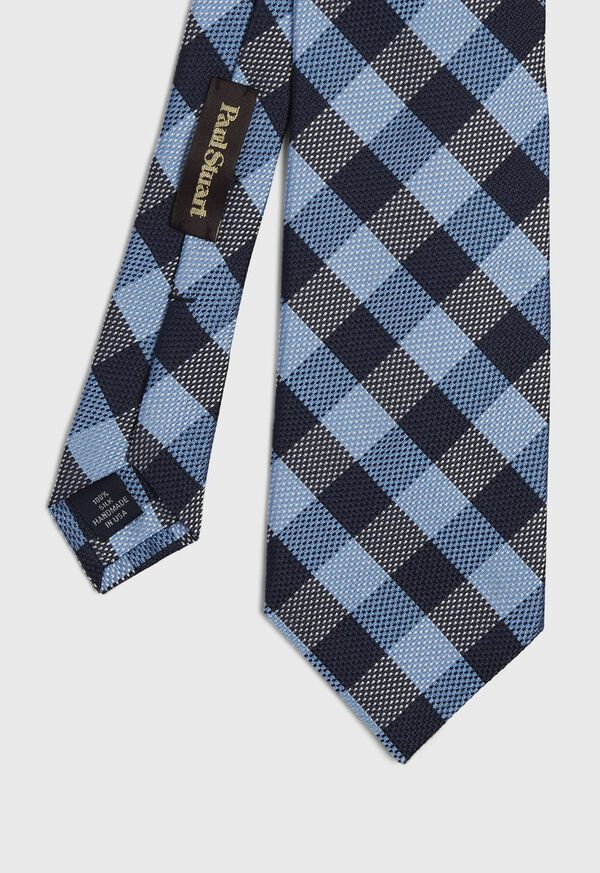 Oxford Check Silk Tie, image 1