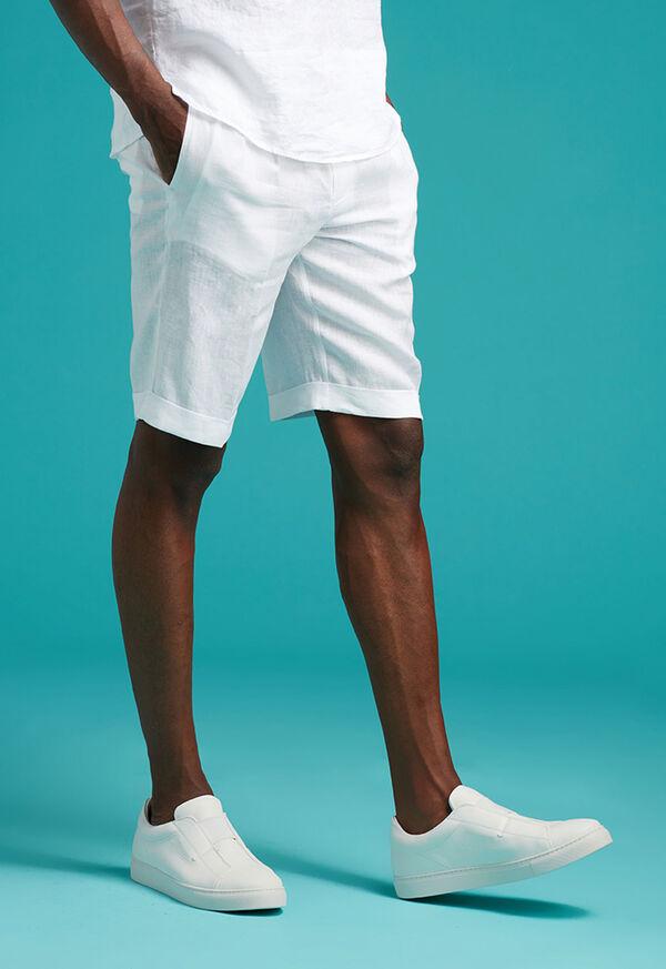 Linen Drawstring Shorts, image 2